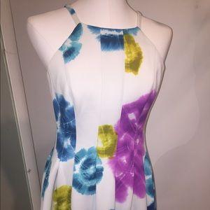 Gorgeous Calvin Klein white flower dress size 8